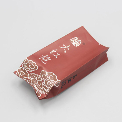 Custom Stand up Pouch Resealable Ziplock Empty Tea Packaging Bag