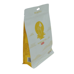 Clear Window Food Safety Plastic Grain Granola Packaging Bag With Hanging Hole