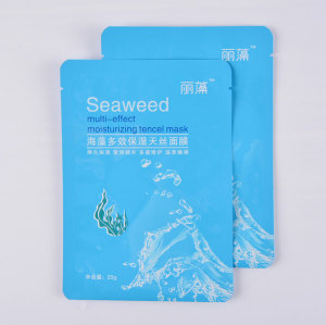 Custom Printed Aluminum Foil Packaging Bag for Cosmetic Sheet Mask Packaging