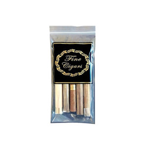 Mylar Foil Laminated Cigar Tobacco Packaging Pouch With Zipper