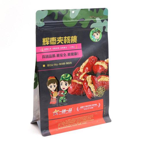 Flat Bottom Flexible Box Bag for Food Packaging