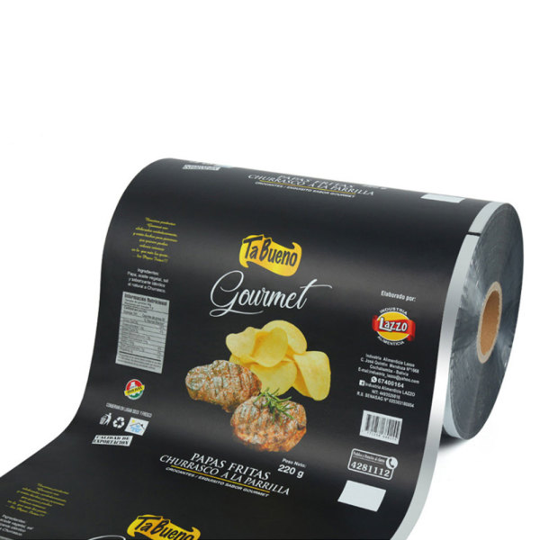 Custom Aluminum Foil Laminated Gravure Printing Potato Chips Packaging Rollstock Film