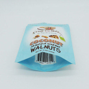 Laminated Plastic High Barrier Nuts Packaging Bag with Zipper