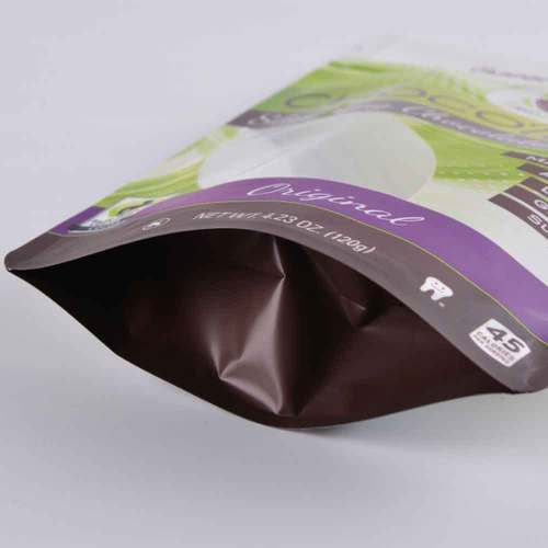 Matt Finishing Ziplock Plastic Stand up Pouch With Zipper For Food