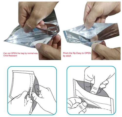 High Quality Smell Proof Child Resistant Mylar Plastic Bags