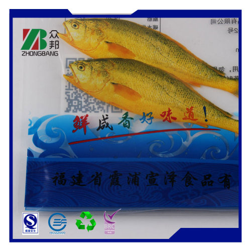 OEM made high quality plastic frozen food packaging bag for packing seafood