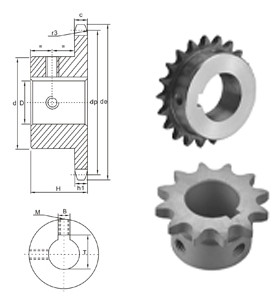 American Standard Stock Bore Sprocket 100BS chain sprocket