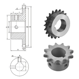 American Standard Stock Bore Sprocket 80BS chain sprocket