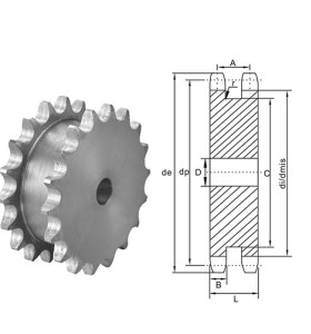 American Standard Double Sprocket for Two Single Chains 60