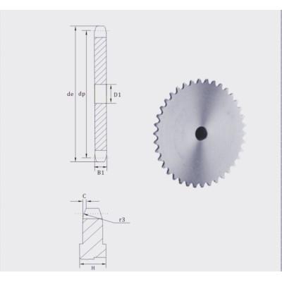 European Standard Stock bore platewheel 08 sprocket platewheel