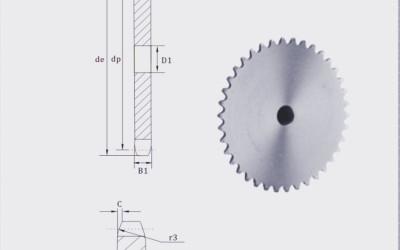 European Standard Stock bore platewheel 16 sprocket platewheel
