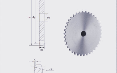 European Standard Stock bore platewheel 24 sprocket platewheel