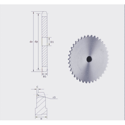 European Standard Stock bore platewheel 24 sprocket platewheel