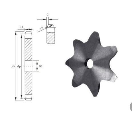 European Standard P100 Platewheels for conveyor chain