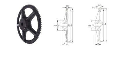 European Standard sprocket Cast iron roller chain sprocket 20 chain sprocket