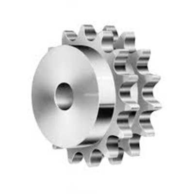 Steel Durable Double Pitch Sprocket 100 Stock Bore Chain Sprocket Stock Bore for Transmission From China