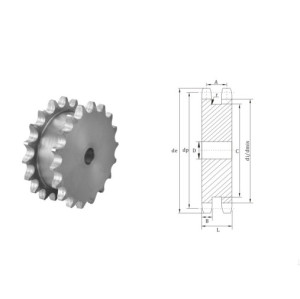 European Standard black oxide sprocket 3/4