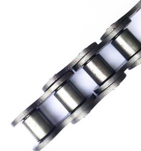 acero inoxidable de precisión 20A-1 / 100-1 ss304 / 316 transmisión ss304 cadena de rodillos con pasador extendido