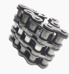 Precisión de paso corto 16A-1 / 80-1 excelente transmisión ss304 cadena de rodillos industriales simplex con pasador extendido