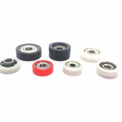 Hot sale plastic nylon pom flat belt idler pulley roller wheel with bearing for machines
