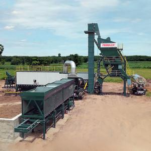 PRIMACH Series PM80M 80t/h mixer: 1.0t compulsory mobile cold mix asphalt plant