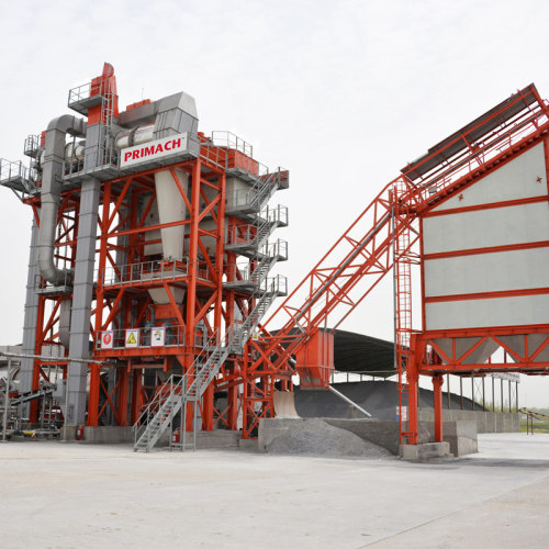 PRIMACH asphalt recycling plant in construction works