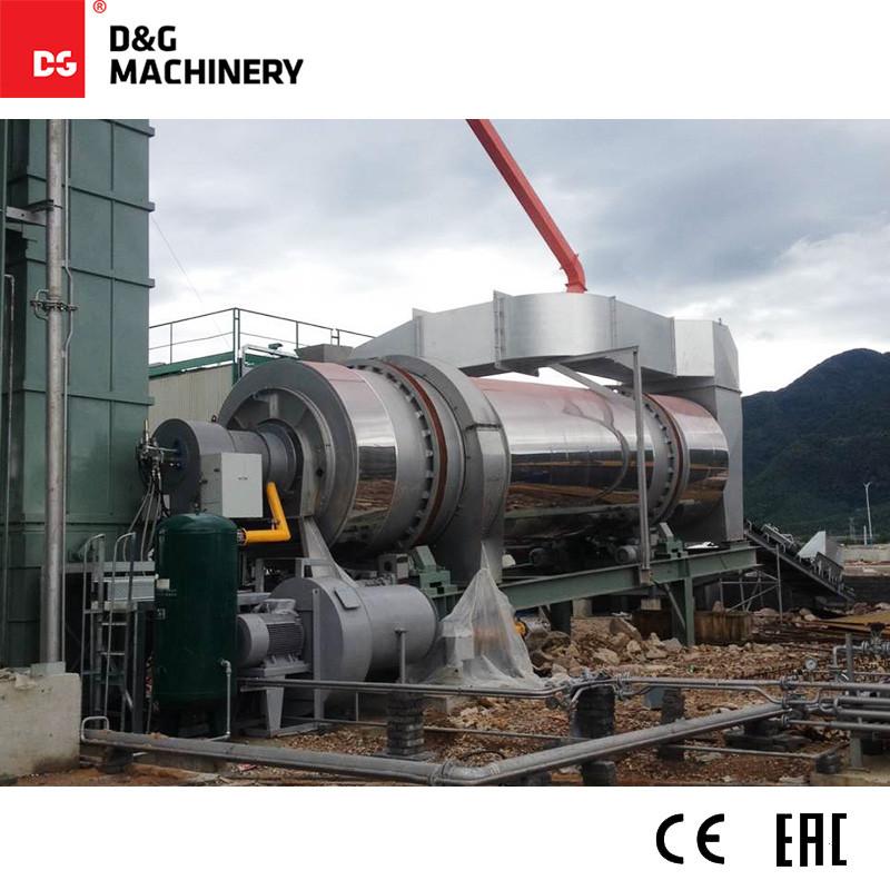 مصنع خلط الأسفلت المعاد تدويره أحادي الكتلة DGR3000T250D 240 طن / ساعة
