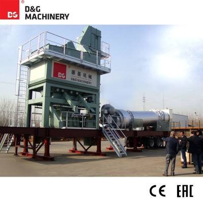 DGM1500,DGM2000 123T/H 160T/H mobile asphalt plant for sale in bituminous pavement