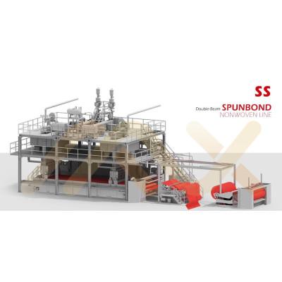 SS PP спанбонд нетканая ткань Изготовление оборудования для гигиенического полотенца