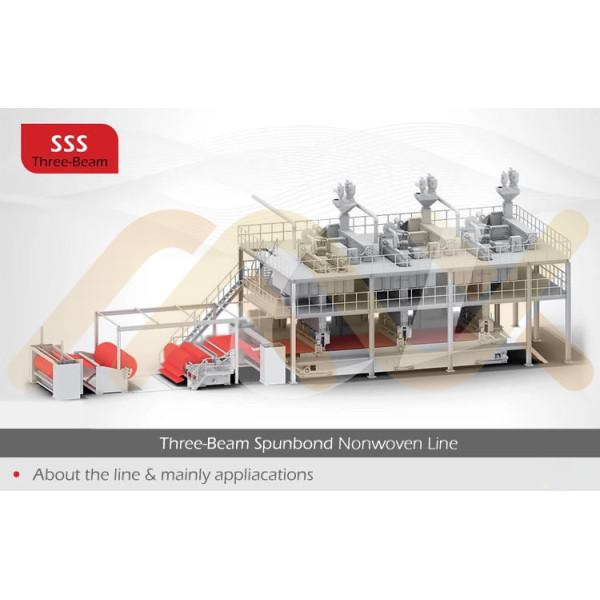 SSS 2400mm Спанбонд нетканая ткань изготовление оборудования для очистки салфетки