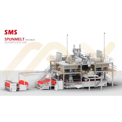 Высокопроизводительное хорошее качество SMS PP Spunbond Meltblown Композитный нетканый материал для производства ткани для фильтрации воздуха газомасляной жидкости