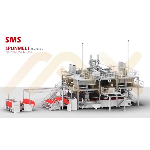 Высокопроизводительное хорошее качество SMS PP Spunbond Meltblown Композитный нетканый материал для производства ткани для гигиенического полотенца