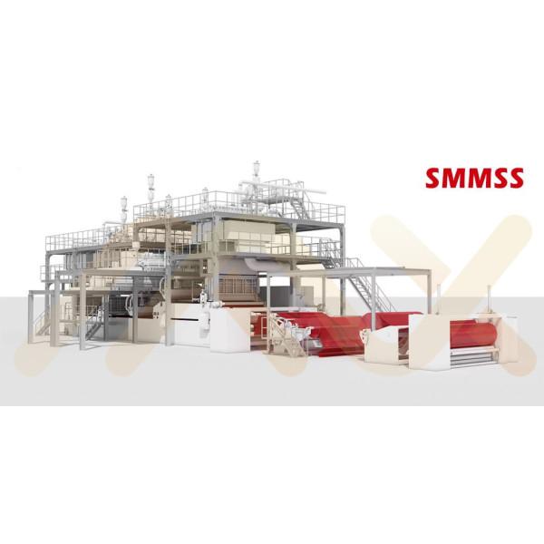 SMMSS PP прядения из расплава Композитный Нетканые ткани Изготовление Линия для влажной ткани