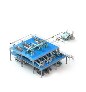 3200MM AZX-SSS PP Spunbond non woven machine