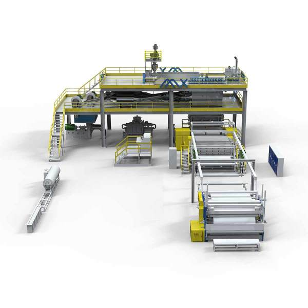 1600MM AZX-S PP Spunbonded Nonwoven Fabric Making Machine for nonwoven bag