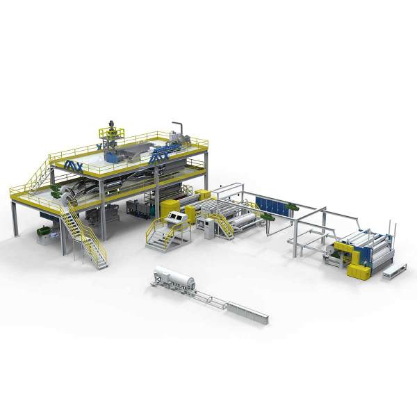 2400MM AZX-S PP Spunbonded Non Woven fabric machine for Medical Products