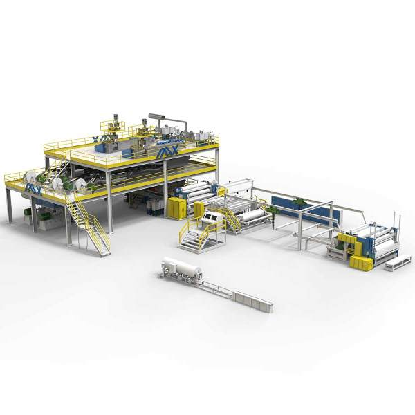 3200MM AZX-SS Spunbond Production Line with non woven fabric slitting machine