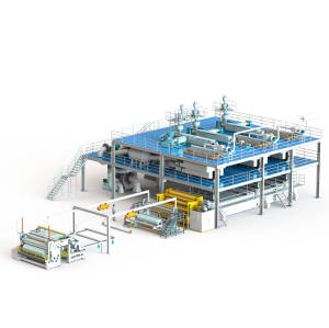 1600MM AZX-SSS PP spunbond production line
