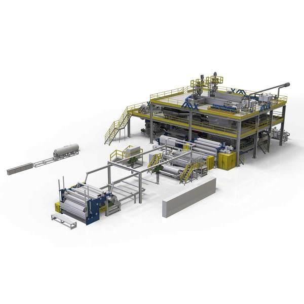 3200MM AZX-SMS PP Spunmelt pp non woven machine