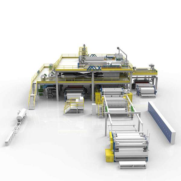 2400MM AZX-SMMS Spunmelt Production Line With Non Woven Fabric Slitting Machine