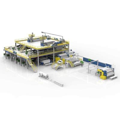 1600MM AZX-SMMS Spunmelt Production Line  For Surgical Mask Non Woven Machine