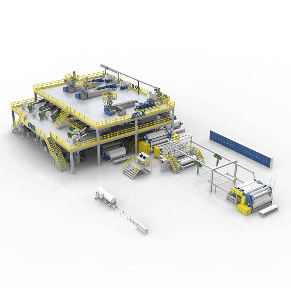 2400MM AZX-SMMSS PP Spunmelt spunbond nonwoven production line