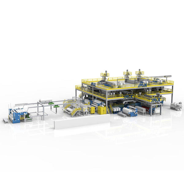 3200MM AZX-SSMMS Spunmelt Production Line From Spunbond Machine Manufacturers