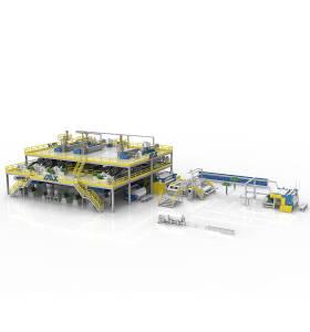 1600MM AZX-SMMSS PP Spunmelt Production Line