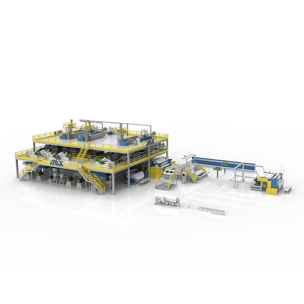1600MM AZX-SMMSS PP Spunmelt Production Line