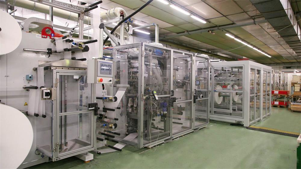 the components and characteristics of the spunbond nonwoven production line