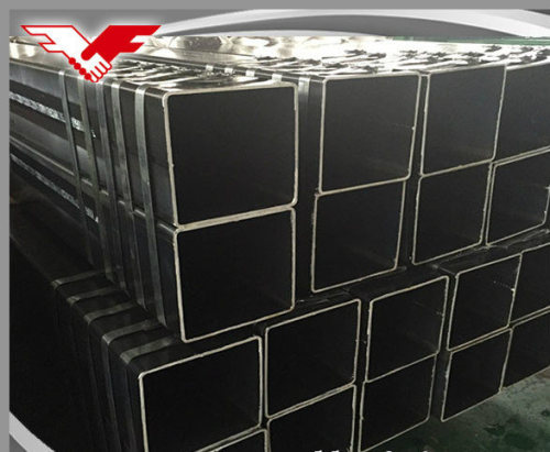 Square steel pipe tubes black welded carbon hollow section for oil and red painting