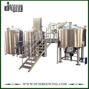 Equipo de elaboración de cerveza artesanal de 3 recipientes de calentamiento de vapor industrial personalizado para sala de cocción