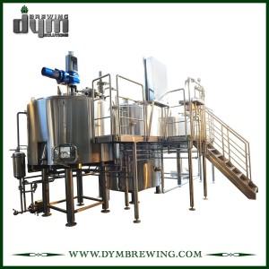 Cervecería de 3 recipientes de calentamiento directo de fuego personalizado para cervecería artesanal