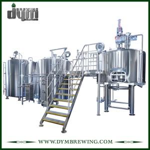 Steam Heating 2 Vessels Jacketed Beer Brewhouse for Craft Beer
